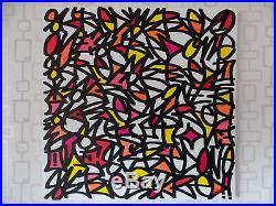 80X80 TOILE DE ROULLAND T. SKRED tableau graffiti tag street art peinture oeuvre