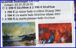 ABSTRAIT Tableau peinture huile sur toile au couteau du peintre KLEINER art