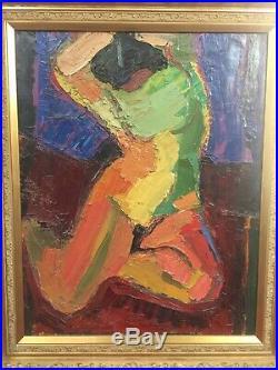 AMBROGIANI Pierre (1907-1985) Huile sur toile Femme dénudé