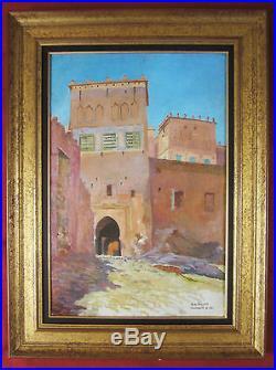 A. H. Gillot Tableau Ouarzazate Maroc Orientalisme Peinture Orientaliste Afrique