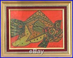 Albert BERGEON (XX) HsT 50s Surréalisme Surrealisme Cubiste Cubist Ecole Belge