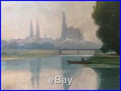 Albert MARKOVSKI, dit MARKS 1871-1941. Metz, la Moselle. Huile sur toile. SBG. 38x60