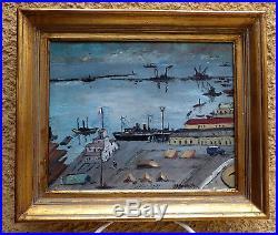 Alger 1921. Fauvisme & Orientalisme. Belle Vue Du Port Au Crépuscule. Signé