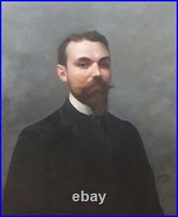 Alphonse PELLET (1853-1926) GRAND PORTRAIT Huile Orientalisme fin XIXe siècle