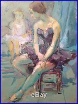 Ancien Tableau DUCLOS XXe Ballerines Huile sur toile Dans Le Goût Edgar DEGAS
