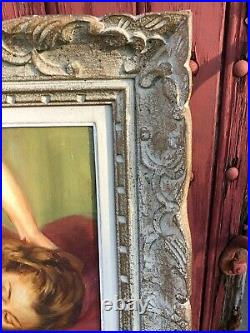 Ancien Tableau Femme Nue Signe Dupin Huile Sur Toile Cadre Montparnasse