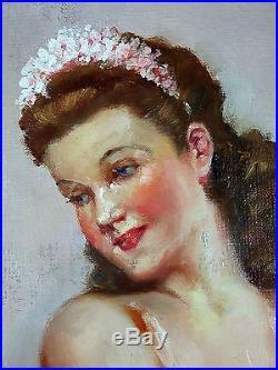 Ancien Tableau Fernand Barbier (XXe) Peinture Huile Antique Oil Painting