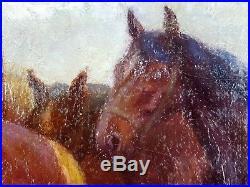 Ancien Tableau Henri Blahay (XIXe-XXe) Peinture Huile Antique Oil Painting