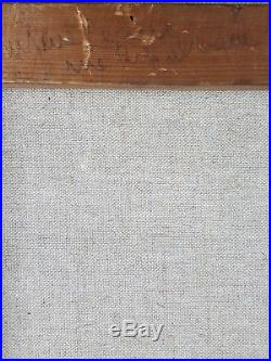 Ancien Tableau Jeune Fille à la Poupée Peinture Huile Antique Oil Painting