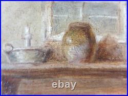 Ancien Tableau Le Bain Peinture Huile Antique Oil Painting Dipinto Ölgemälde