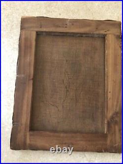 Ancien Tableau Madone Huile Sur Toile Peinture Ancienne Rare