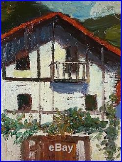 Ancien Tableau Octave de Creusillet Peinture Huile Antique Oil Painting