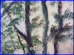 Ancien Tableau Paysage à la Campagne Peinture Huile Antique Oil Painting