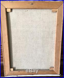 Ancien Tableau Peinture Huile Sur Toile Signe Kolomayets