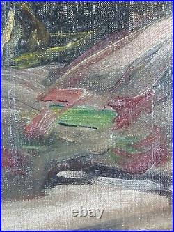 Ancien Tableau Pierre de Belair (1892-1956) Peinture Huile Oil Painting Dipinto