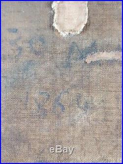 Ancien Tableau Saint André Peinture Huile Antique Oil Painting