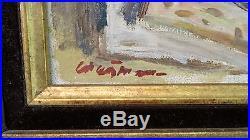 Ancien Tableau peinture signé HST Nature morte Oil painting signed