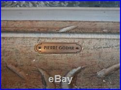 Ancien tableau, HST, Marine, signé Pierre Godar, Finistère, Brest, début XXème