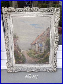 Ancien tableau huile sur toile cadre montparnasse signé G. Vanbraekel