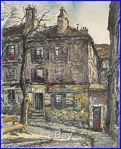 André BOYER (1909-1981) HsT Expressionnisme Ecole de Paris Années 50 Montmartre
