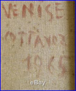 André Cottavoz. Venise. Huile sur toile datée 1965. V842