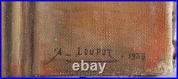 André Loupot Trompe l'oeil Vierge à l'enfant HST 1936 Ardennes Vouziers