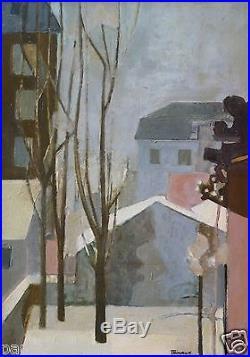 André MINAUX (1923-1986) HsT / Années 60 / Jeune peinture Nle Ecole de Paris