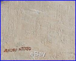 André NIVARD tableau huile orientaliste paysage TUNISIE rue TUNIS orientalisme
