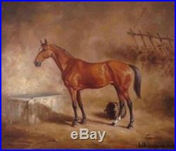 Animal cheval tableau peinture huile sur toile / horse painting on canvas