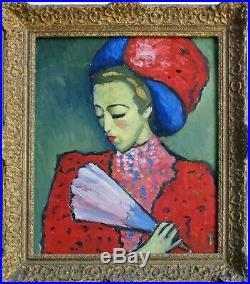 Anonyme huile /toile tableau PORTRAIT DE FEMME