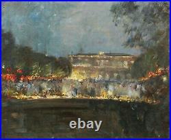Antonin Bréfort-Porché tableau huile toile fête Château VERSAILLES nocturne nuit