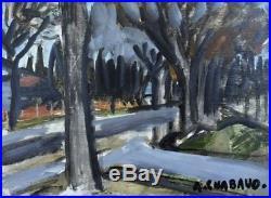 Auguste CHABAUD (1882-1955) huile sur toile Paysage de Provence v584