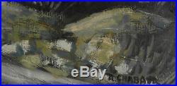 Auguste Chabaud. Chemin dans la Montagnette. Huile sur toile v643