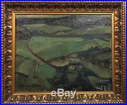 Auguste MAMBOUR 1893-1968 tableau de 1922, paysage Belge