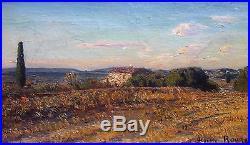 Auguste Roure, Environs d'Avignon, Huile sur toile (v)