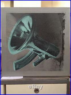 BEEJOIR Weapon of choice peinture & sérigraphie sur toile-signée /hirst/banksy