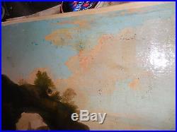 Beau paysage de marine XVII/XVIII sur toile d, origine