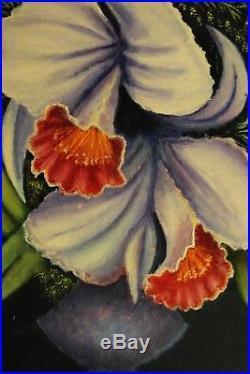 Belle Peinture HUILE NATURE MORTE BOUQUET FLEURS Impressionniste Ecole FRANÇAIS
