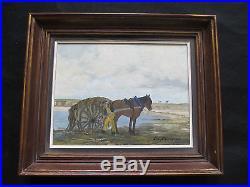 Belle huile par Guy Pennamen le goémonier et son cheval