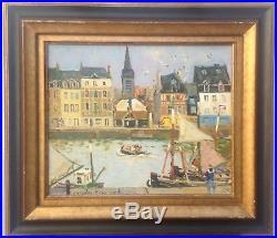 Bouyssou Jacques, Honfleur, Huile Sur Toile, 57,5 X 65,5 Cm