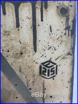 C215 Original Cat painting on metal panel Very rare (like Banksy, Invader)