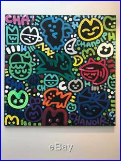 CHANOIR Black and Green 2017 Peinture 80x80 cm Street Art Graffiti