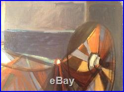 Camille HILAIRE (1916 2004) Cubisme Remailleuse de filets Huile Toile signée