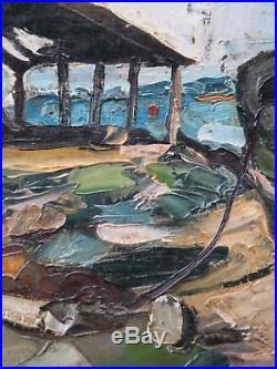 Chantier naval. Superbe tableau d'André Vagh Weinmann (1925-)