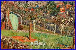 Charles WEISS (1872-1970), Ribeauvillé, Alsace, paysage, peinture, tableau