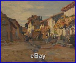 Claude Firmin. La rue de la monnaie à Villeneuve-les-Avignon. H sur toile v608