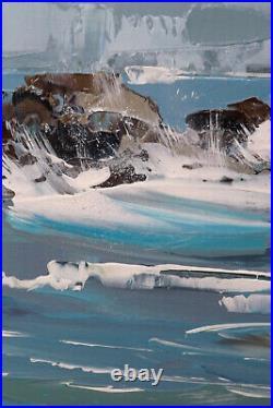 Côte sauvage GRAND FORMAT oeuvre originale JP Douchez sur toile 92x55cm