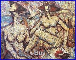 Cubiste Pointilliste déjeuner sur l'herbe femmes nues aux chapeaux Nu vers 1930