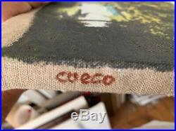 Cueco Henri huile sur toile signée datée titrée la pêcherie été 2001