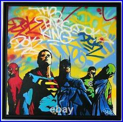 DOK Street Art Acrylique sur toile What's your choice 80 x 80 cm
